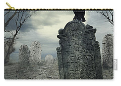 Crow On The Tombstone Carry-all Pouch