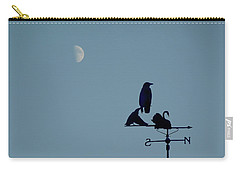 Carry-all Pouch featuring the photograph Crow On Weathervane by Valerie Anne Kelly