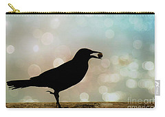 Carry-all Pouch featuring the photograph Crow With Pistachio by Benanne Stiens