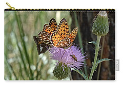 Crowded Thistle Carry-all Pouch by Fiskr Larsen