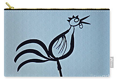 Crowing Rooster Carry-all Pouch by Sarah Loft