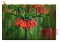 Carry-all Pouch featuring the photograph Crown-imperial Abstract #h5 by Leif Sohlman