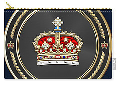 Crown Of Scotland Over Blue Velvet Carry-all Pouch