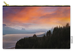 Crown Point At Columbia River Gorge During Sunrise Carry-all Pouch