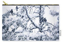 Crows In Snow Carry-all Pouch