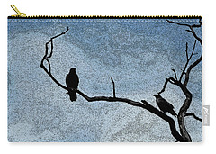 Crows On A Branch Carry-all Pouch by Sandra Church