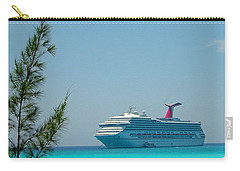 Cruise Ship At Half Moon Cay Carry-all Pouch
