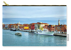 Carry-all Pouch featuring the photograph Cruising Into Venice # 2 by Mel Steinhauer