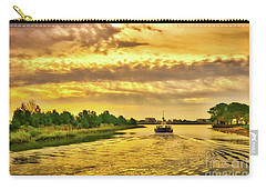 Carry-all Pouch featuring the photograph Cruising Out Of Murrells Inlet by Mel Steinhauer