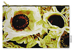 Carry-all Pouch featuring the photograph Crumpled White Poppies by Sarah Loft