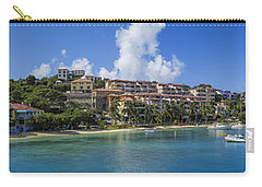 Carry-all Pouch featuring the photograph Cruz Bay, St. John by Adam Romanowicz