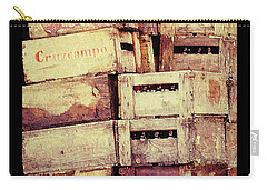 Cruzcampo Beer In Wooden Cases Poster Carry-all Pouch