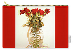 Crystal And Red Roses Carry-all Pouch
