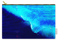 Crystal Blue Wave Painting Carry-all Pouch by Catherine Lott