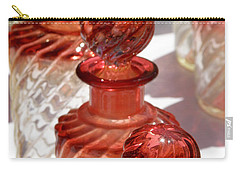 Carry-all Pouch featuring the photograph Crystal Bottles by Lainie Wrightson