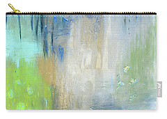 Carry-all Pouch featuring the painting Crystal Deep  by Michal Mitak Mahgerefteh