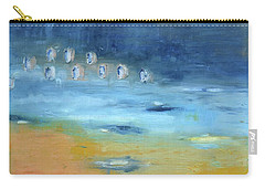 Carry-all Pouch featuring the painting Crystal Deep Waters by Michal Mitak Mahgerefteh