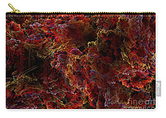 Carry-all Pouch featuring the digital art Crystal Inspiration Number Two Close Up by Olga Hamilton
