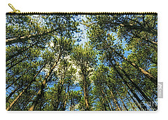 Carry-all Pouch featuring the photograph Crystal Lake Il Pine Grove And Sky by Tom Jelen