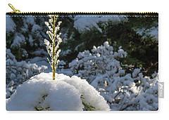 Carry-all Pouch featuring the photograph Crystal Tree by Jan Davies