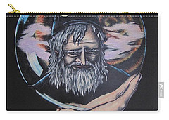 Carry-all Pouch featuring the drawing Crystal Wizard by Michael  TMAD Finney