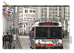 Cta Bus On Michigan Avenue Carry-all Pouch
