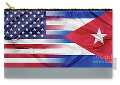 Cuba And Usa Flags Carry-all Pouch