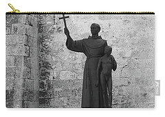 Cuba Church Yard And Statue Carry-all Pouch