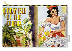 Cuba Holiday Isle Of The Tropics Vintage Poster Carry-all Pouch by Carsten Reisinger