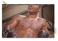 Carry-all Pouch featuring the photograph Cuban Boxer Ready For Sparring by Joan Carroll