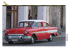 Cuban Red Car Carry-all Pouch by David Warrington