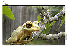 Cuban Tree Frog 001 Carry-all Pouch by Chris Mercer