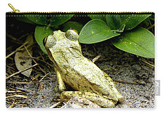 Carry-all Pouch featuring the photograph Cuban Tree Frog 002  by Chris Mercer