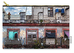 Carry-all Pouch featuring the photograph Cuban Woman At Calle Bernaza Havana Cuba by Charles Harden