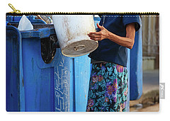 Carry-all Pouch featuring the photograph Cuban Woman With Cigar by Joan Carroll