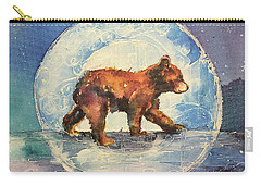 Carry-all Pouch featuring the painting Cubbie Bear by Christy Freeman
