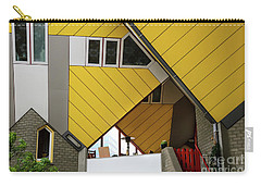 Carry-all Pouch featuring the photograph Cube Houses Detail In Rotterdam by RicardMN Photography