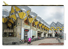 Carry-all Pouch featuring the photograph Cube Houses In Rotterdam by RicardMN Photography
