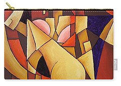 Carry-all Pouch featuring the painting Cube Woman by Sotuland Art