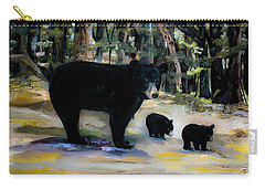 Cubs With Momma Bear - Dreamy Version - Black Bears Carry-all Pouch