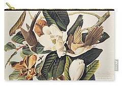 Cuckoo On Magnolia Grandiflora Carry-all Pouch by John James Audubon
