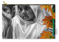 Carry-all Pouch featuring the photograph Cuenca Kids 885 by Al Bourassa