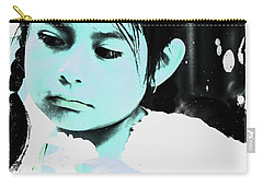 Carry-all Pouch featuring the photograph Cuenca Kids 886 by Al Bourassa