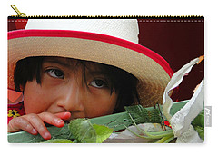Carry-all Pouch featuring the photograph Cuenca Kids 887 by Al Bourassa