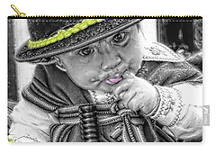Carry-all Pouch featuring the photograph Cuenca Kids 888 by Al Bourassa