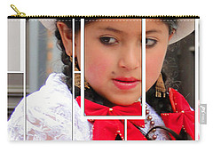 Carry-all Pouch featuring the photograph Cuenca Kids 890 by Al Bourassa