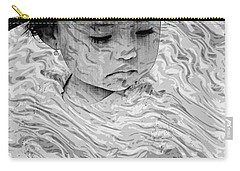 Carry-all Pouch featuring the photograph Cuenca Kids 894 by Al Bourassa