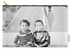 Carry-all Pouch featuring the photograph Cuenca Kids 896 by Al Bourassa