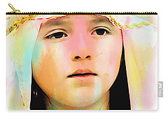Carry-all Pouch featuring the photograph Cuenca Kids 899 by Al Bourassa