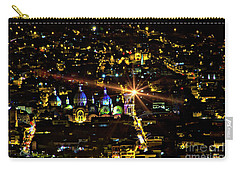 Carry-all Pouch featuring the photograph Cuenca's Historic District At Night by Al Bourassa